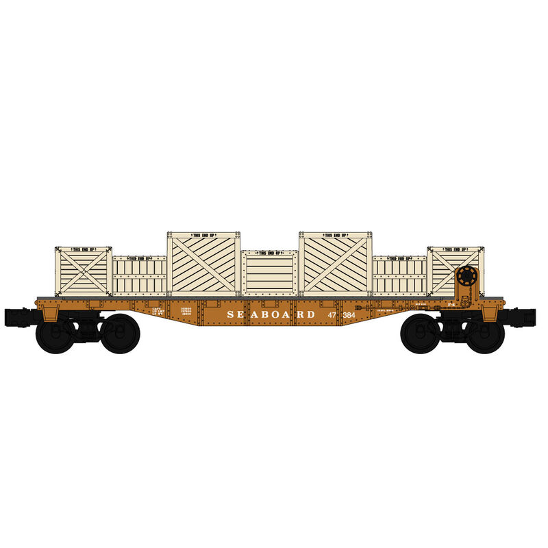 O-27 Williams 40' Flat w/Crate Load, SBD