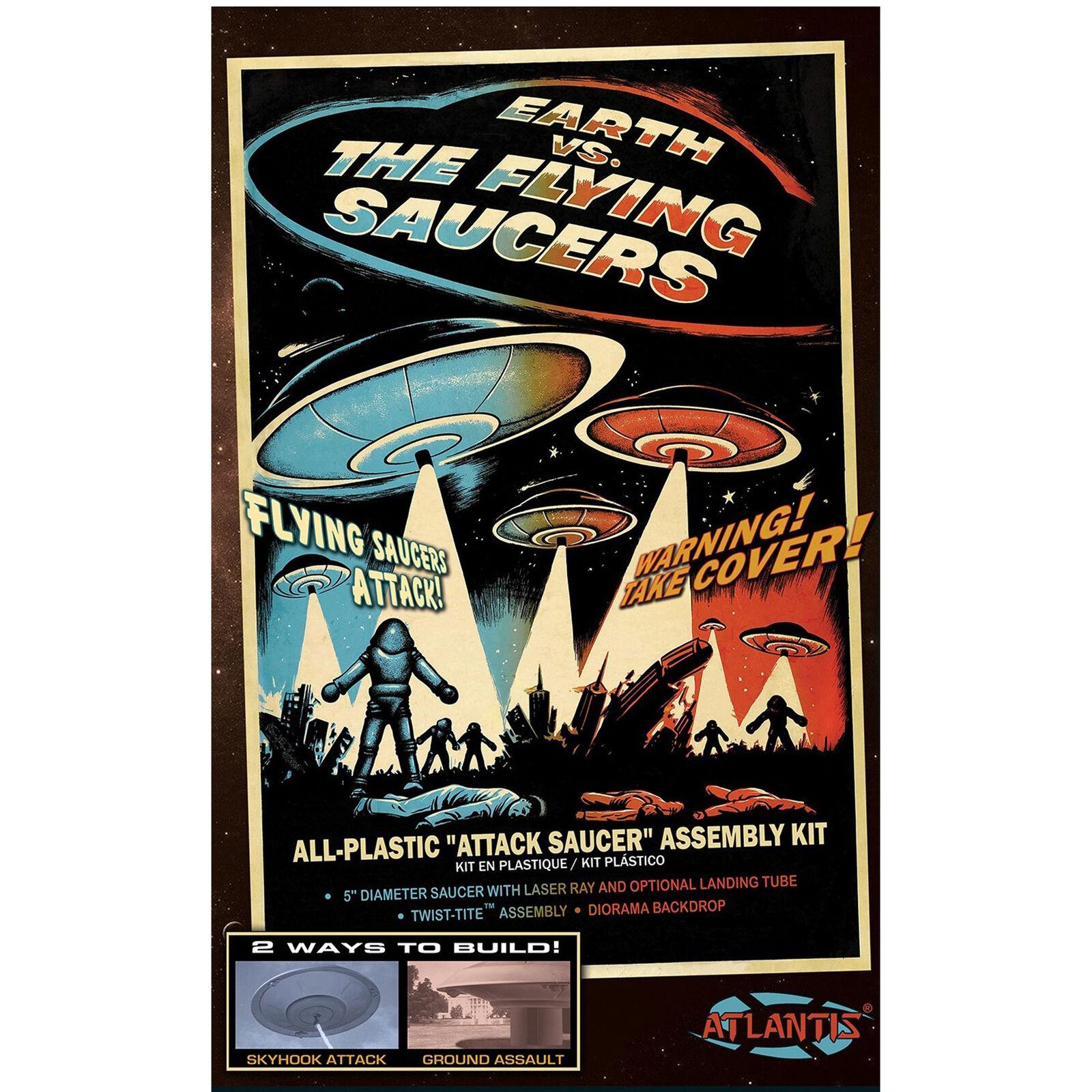 """""""Earth vs. The Flying Saucers"""" Plastic Model Kit"""