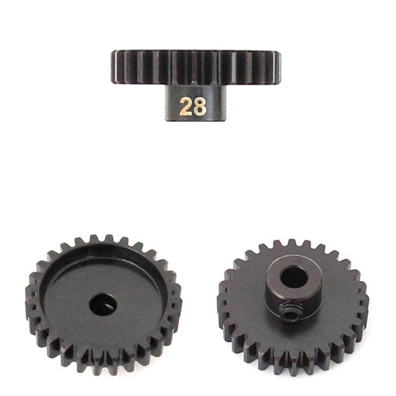 M5 Pinion Gear, 28T, MOD1, 5mm Bore, M5 Set Screw