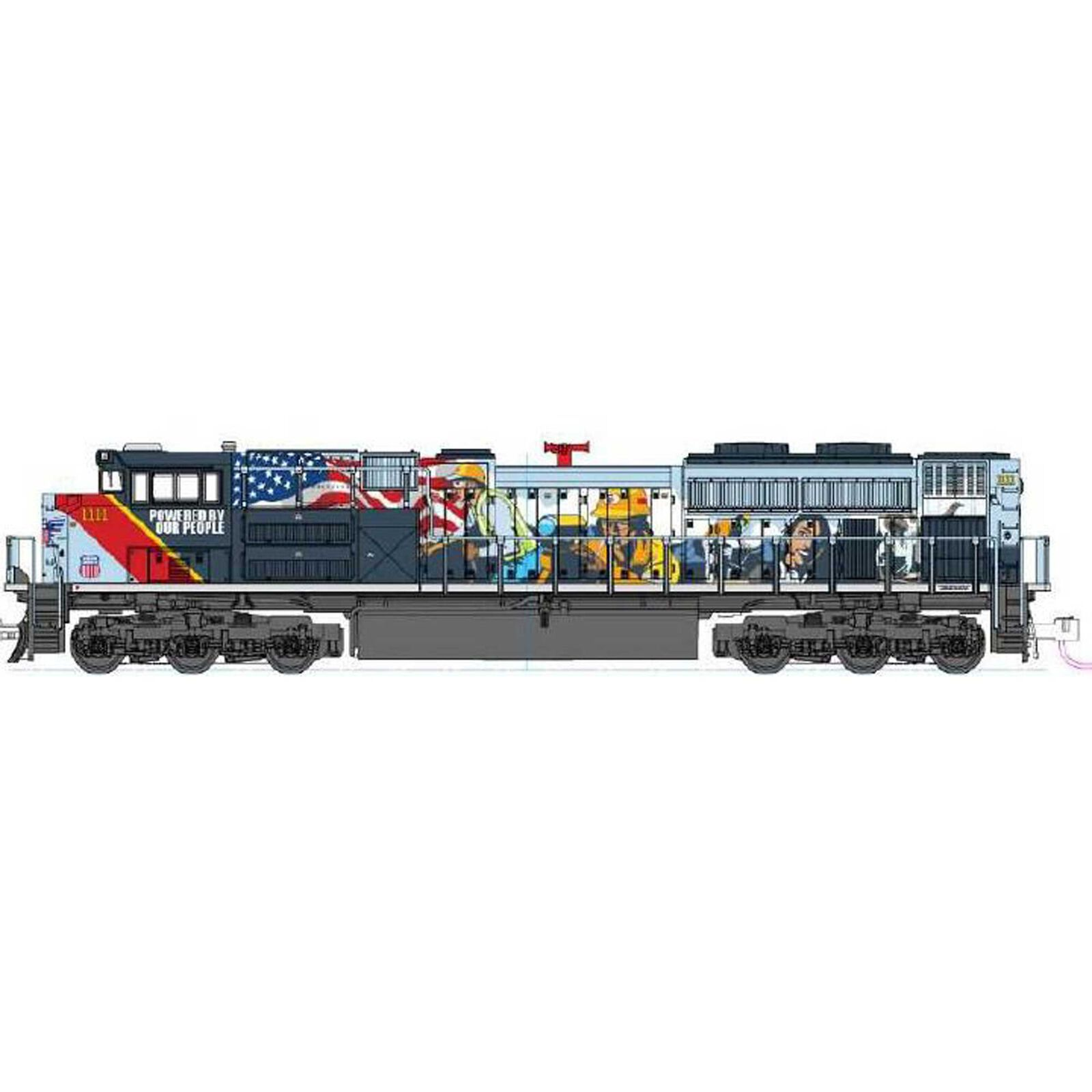 """N EMD SD70ACe Union Pacific #1111 """"PBOP"""" with DCC"""