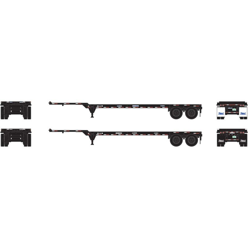 HO RTR 40' Chassis TRAC Intermodal (2)
