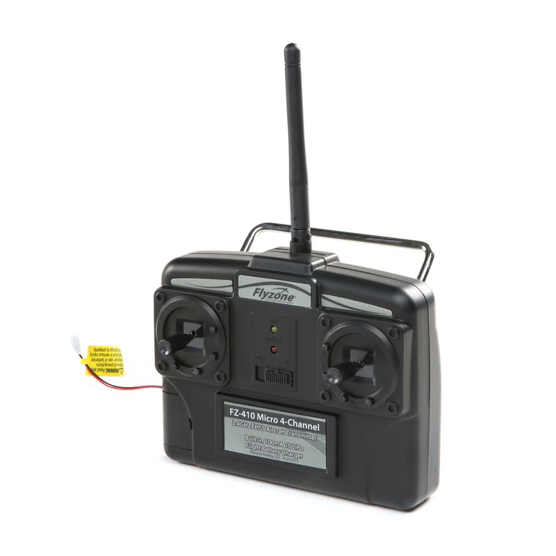 4-Channel 2.4G Transmitter: Flyzone Micro
