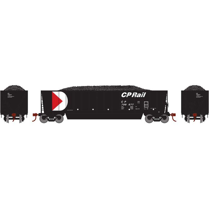 HO RTR Bathtub Gondola with Load CPR Black #799677