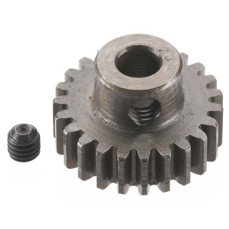 Extra Hard 5mm Bore .8 Module (31.75P) Pinion, 23T