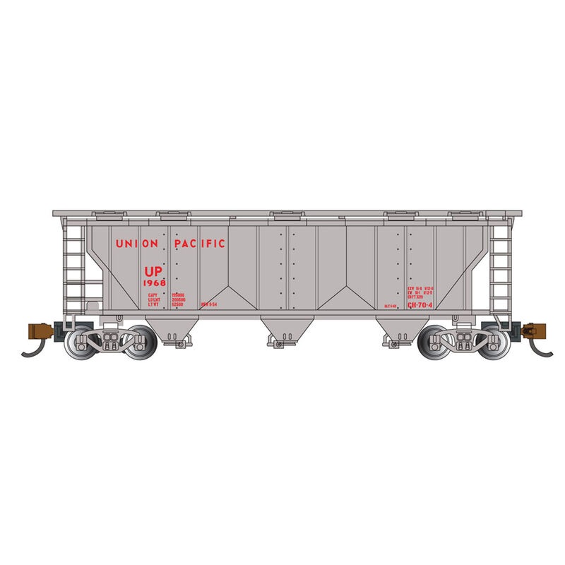 N PS-2 3-Bay Covered Hopper UP