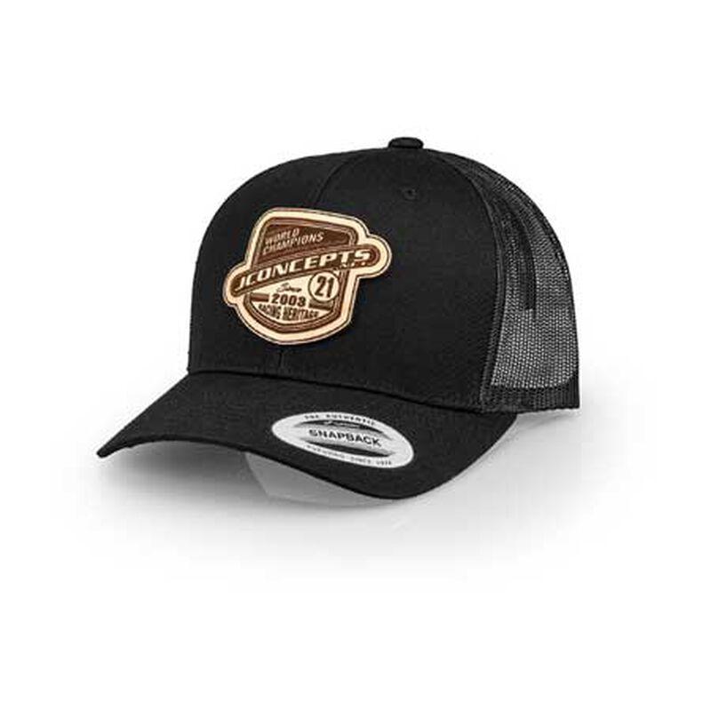 JConcepts Heritage 21 Hat, Round Bill, Black