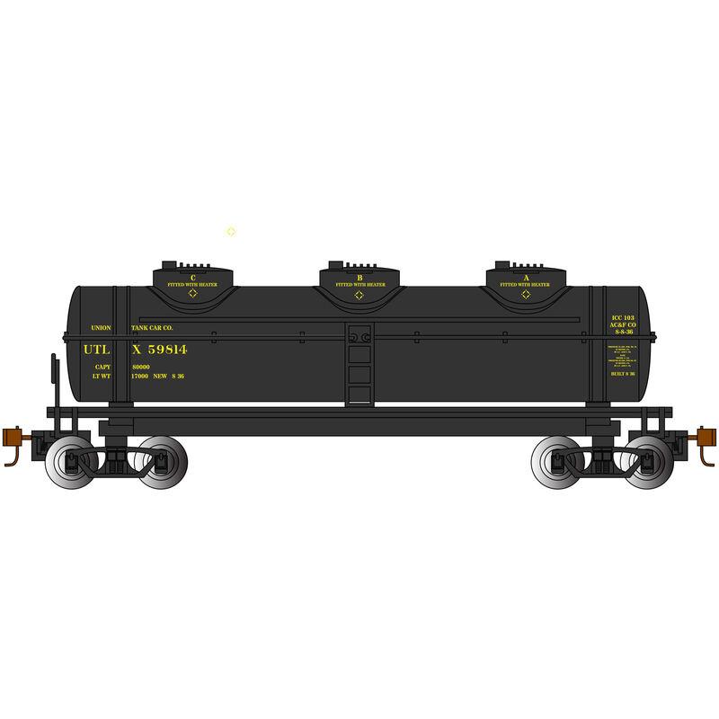 HO 40' 3-Dome Tank UTLX #59814