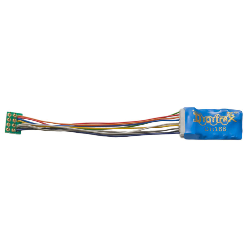 "HO DCC Decoder Prem S6, 3.2"" Wires 6FN 8-Pin 1.5A"