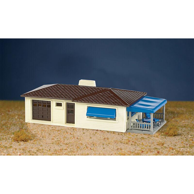 HO Snap KIT Ranch House Cream Brown
