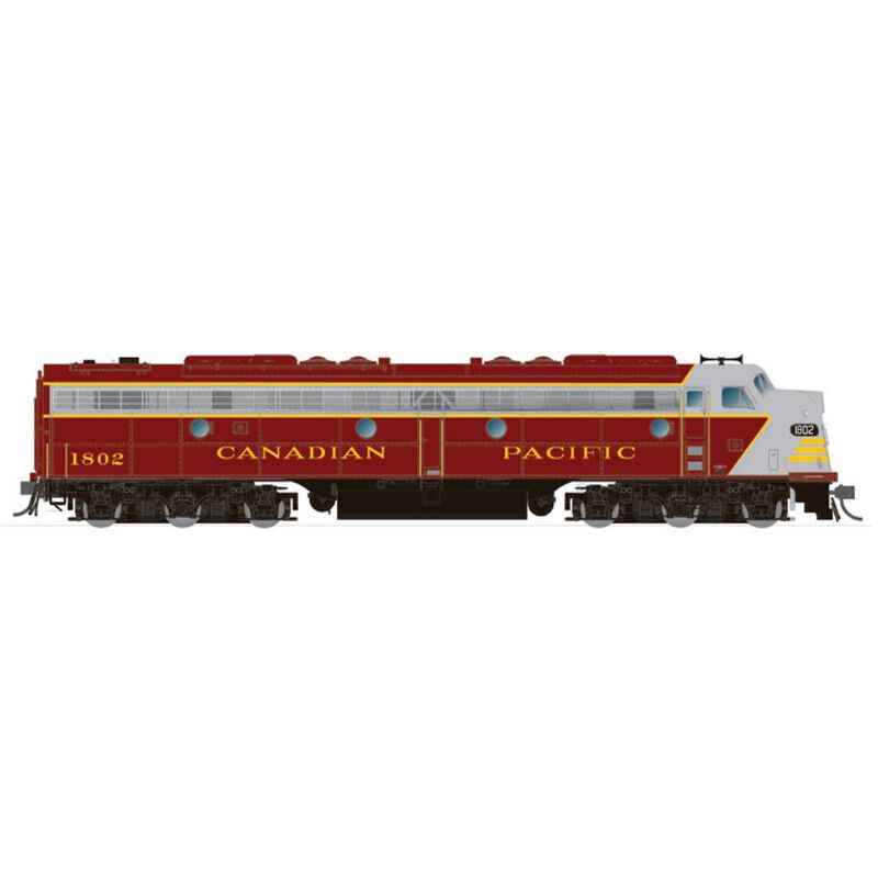 HO EMD E8A (DC/Silent): CPR - Early Maroon: #1802