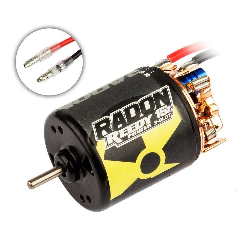 Reedy Radon 2 3-Slot 4100Kv Brushed Motor, 15T: 3.5mm Bullet