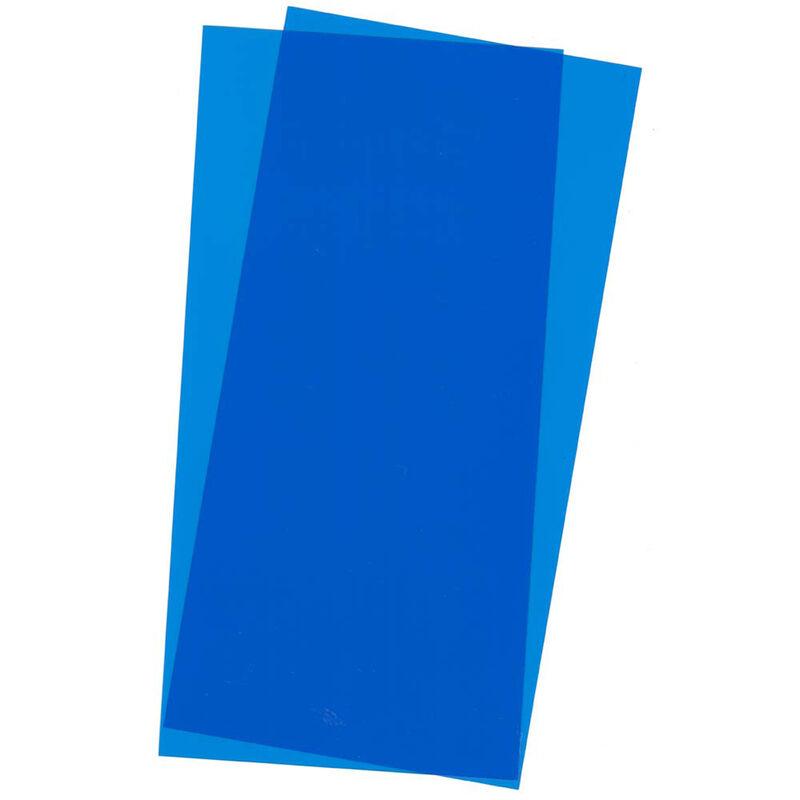 Blue Transparent Sheet 6X12X.010 2 pc