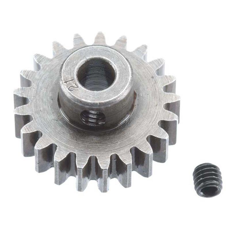 Extra Hard Steel 5mm Bore 1 Module Pinion, 21T