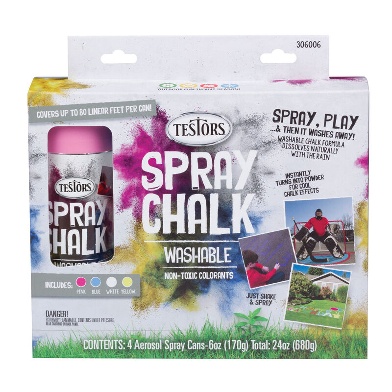 Testors Spray Chalk: 4 Color Set