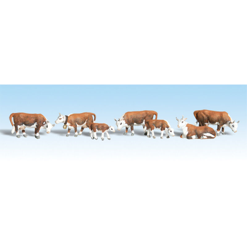 HO Hereford Cows