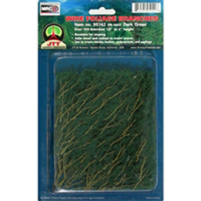 Wire Branches, Dk Green 1.5-3""