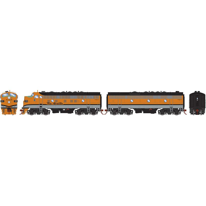 HO F9 A/B with DCC & Sound D&RGW #5774 5772