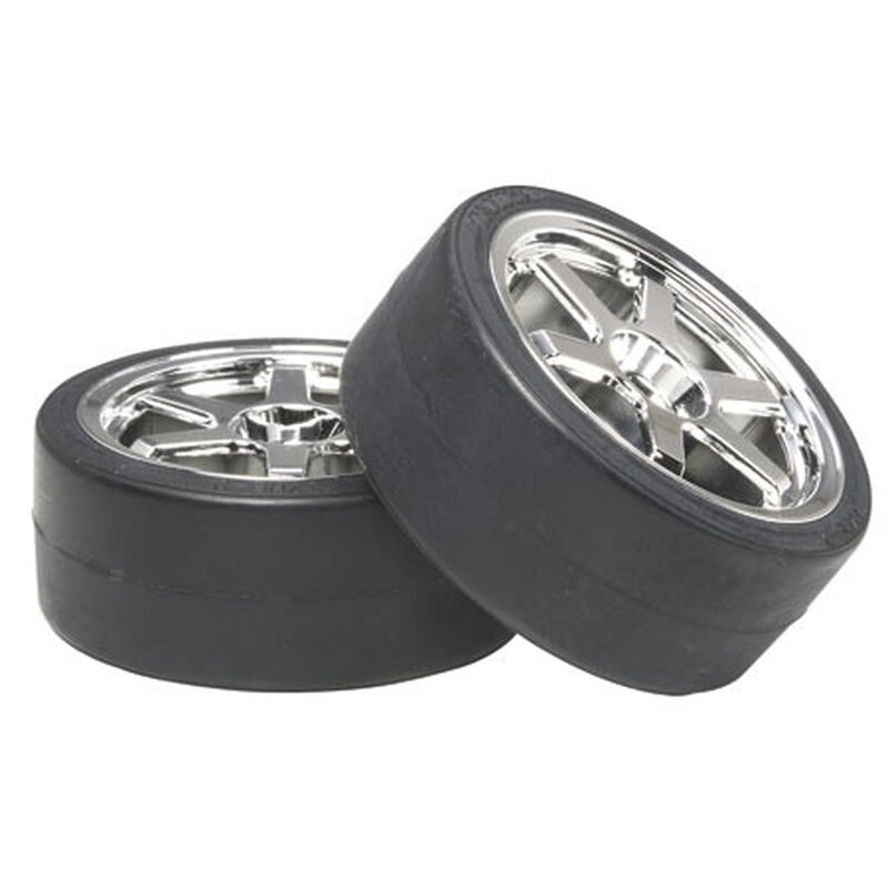 1/10 26mm Drift Type D Pre-Mounted Tires (2)