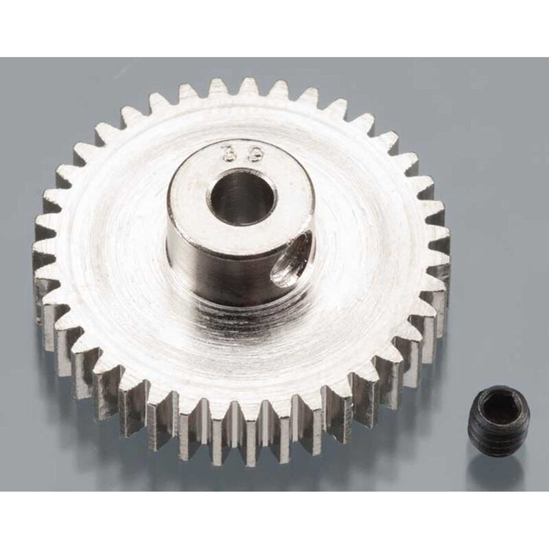Nickel-Plated 48 Pitch Pinion Gear, 39T