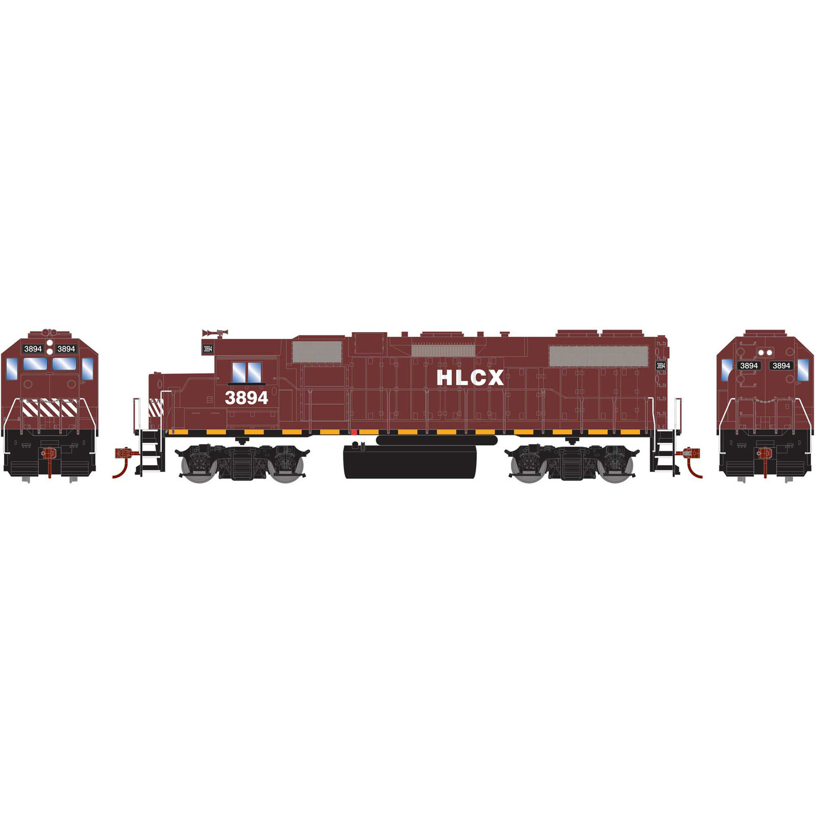 HO GP38-2 with DCC Decoder HLCX #3894