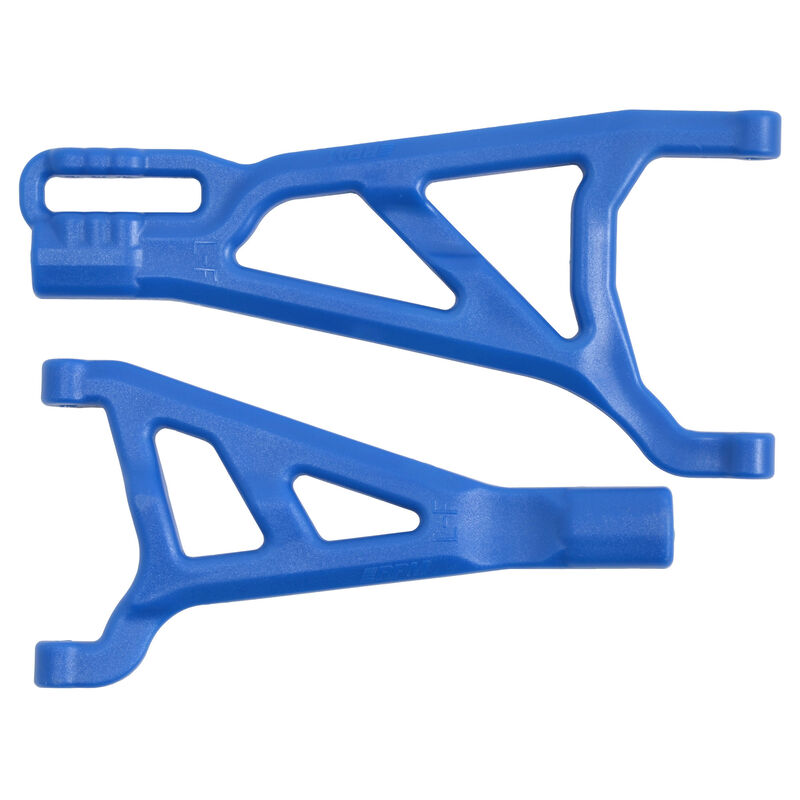 Blue Front Left A-arms for the Traxxas Summit Revo