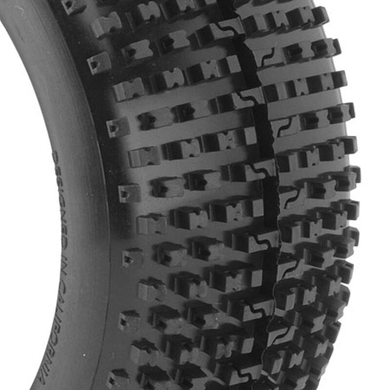 1/8 I-Beam EVO Soft Front/Rear Tire Mounted, White: Buggy (2)