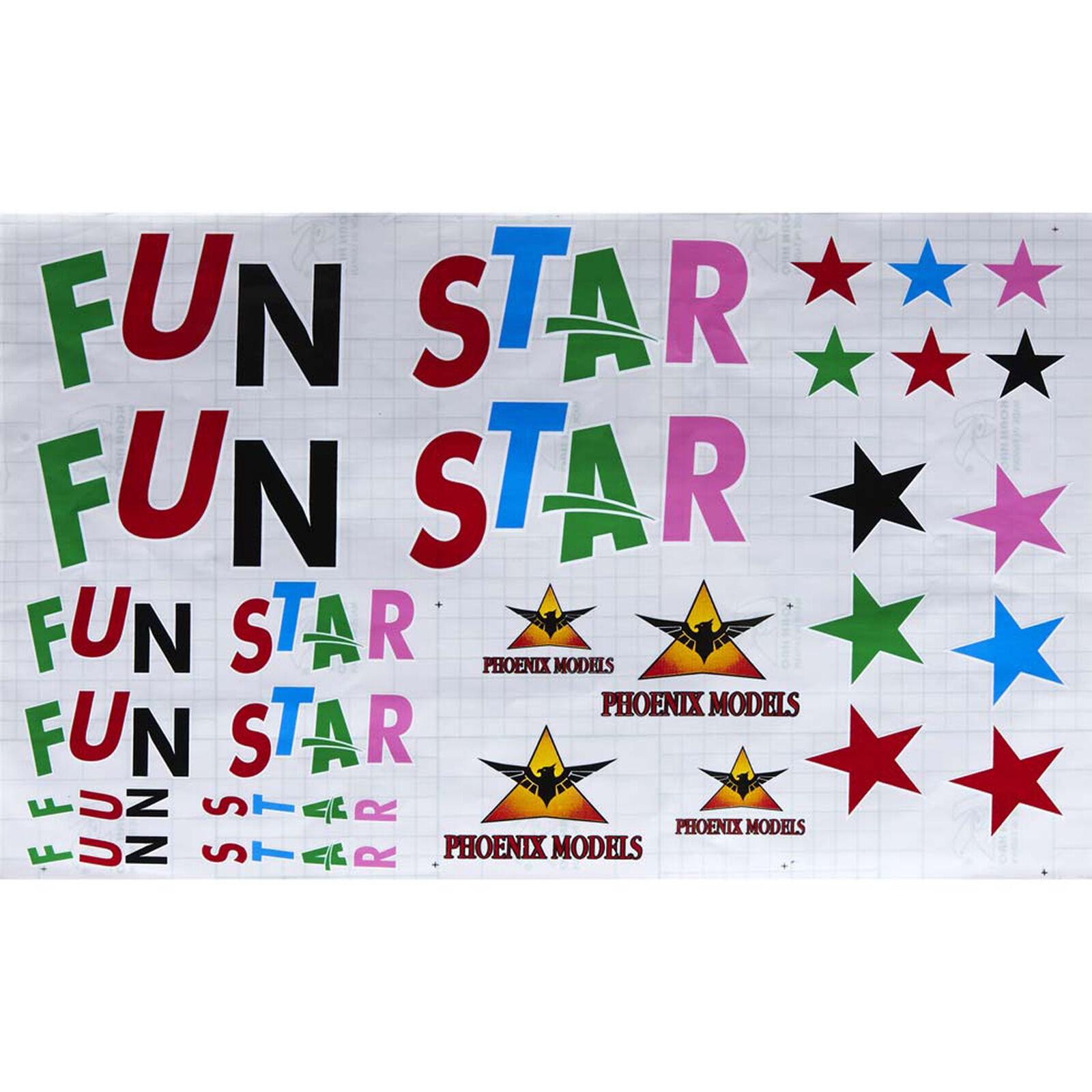 Decals Funstar 3D Mk2 GP EP .46-.55 ARF
