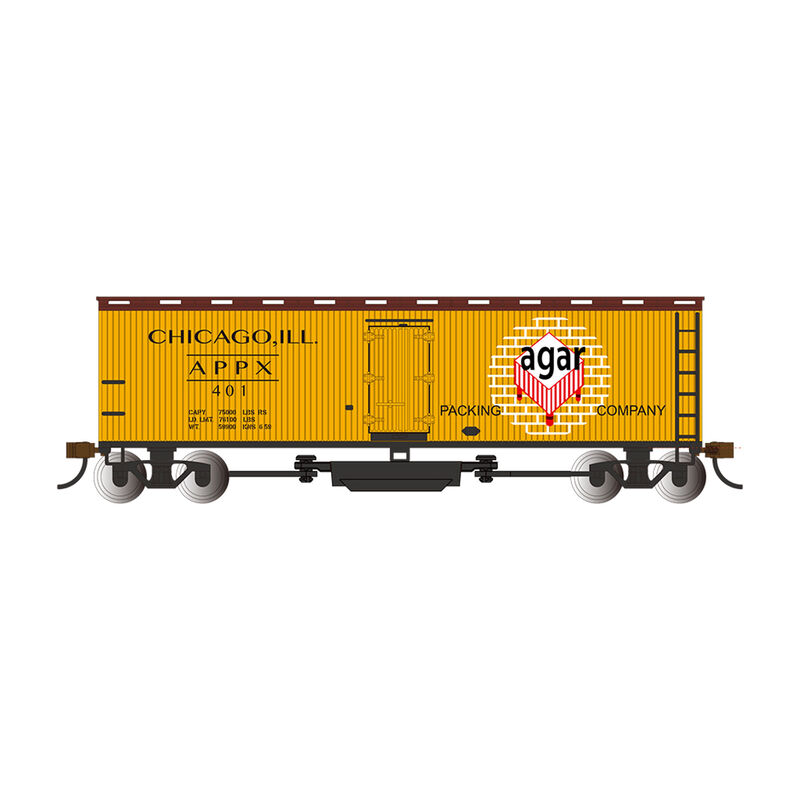 Track Cleaning 40' Wood Reefer Agar Packing Co