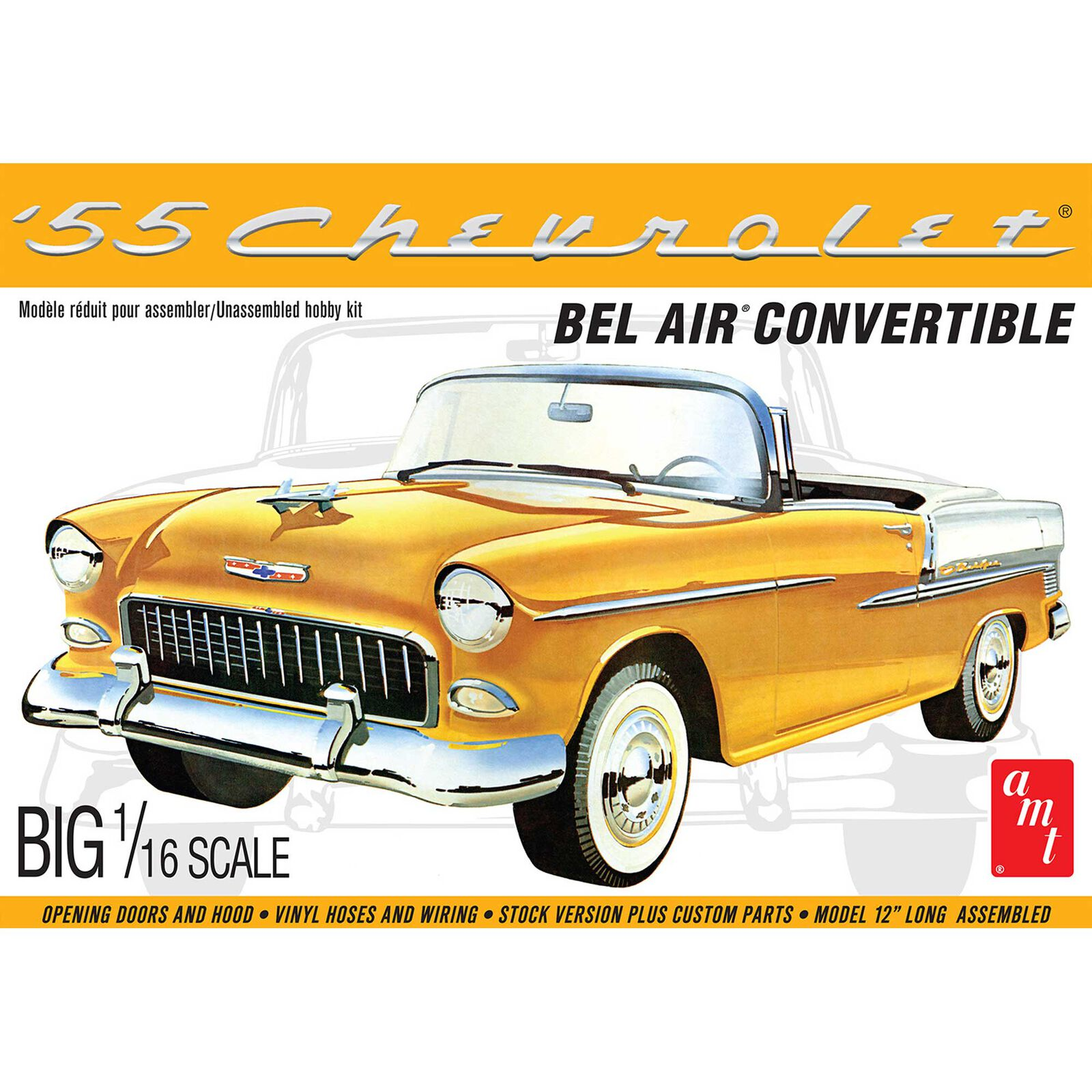 1/16 1955 Chevy Bel Air Convertible, Model Kit