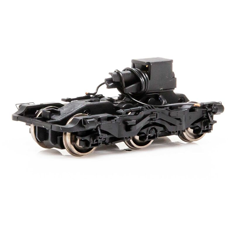 HO Power Truck Black with Steerable Assy ES44 GEVO(4)