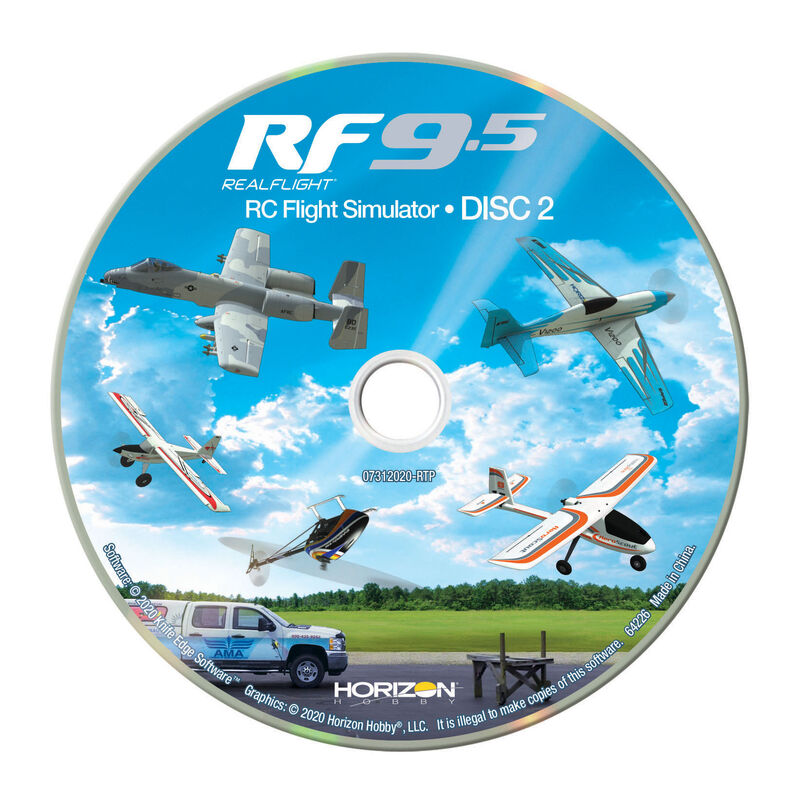 RealFlight 9.5 Flight Simulator with Interlink Controller
