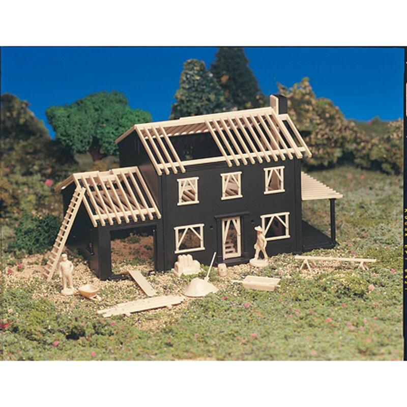 HO Snap KIT House Under Construction