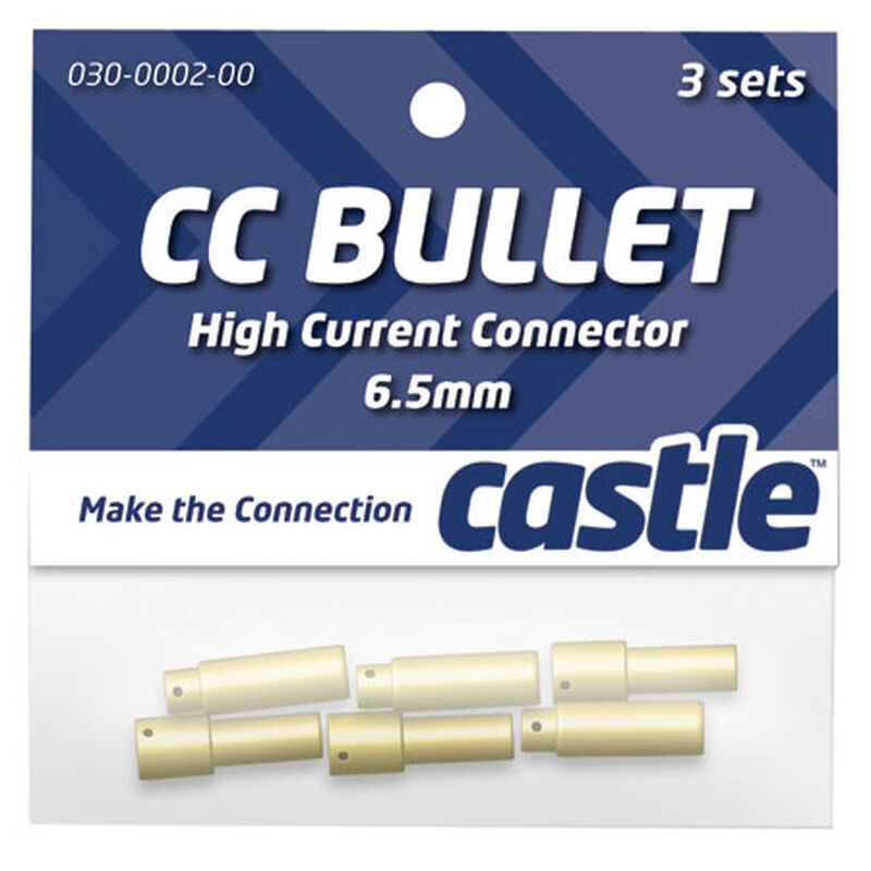 High Current Connector: 6.5mm Bullet Set (3)