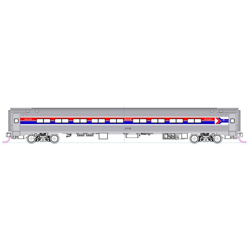 N Amfleet Coach & Cafe Amtrak Ph I Set B (2)