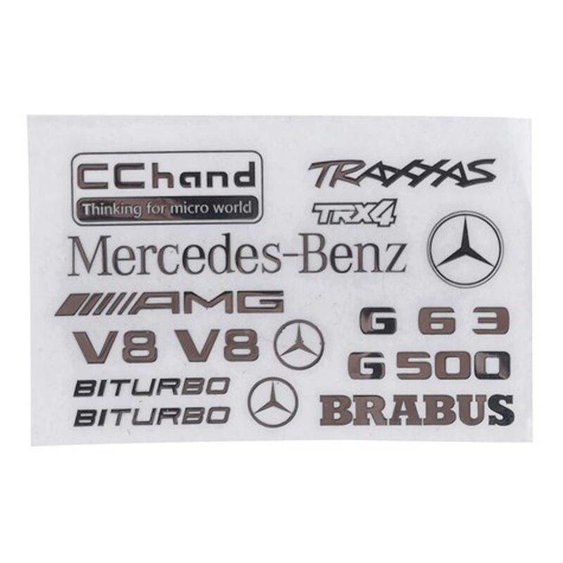 Logo Decal Sheet: TRX-4 Mercedes-Benz G-500