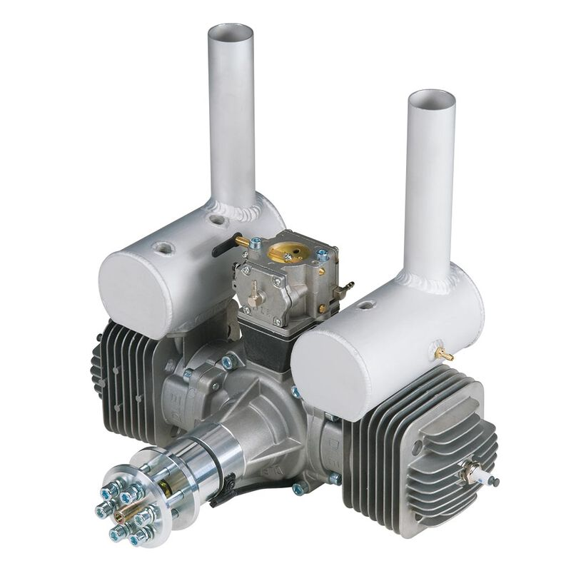 DLE-170 170cc Twin Gas Engine with Electronic Ignition and Mufflers