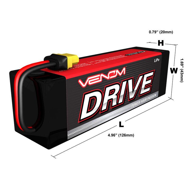 7.4V 5400mAh 2S 20C DRIVE LiPo Battery: UNI 2.0 Plug