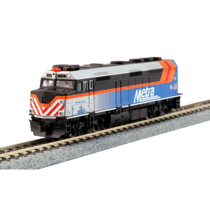 N F40PH Commuter Train Starter Set Chicago Metra