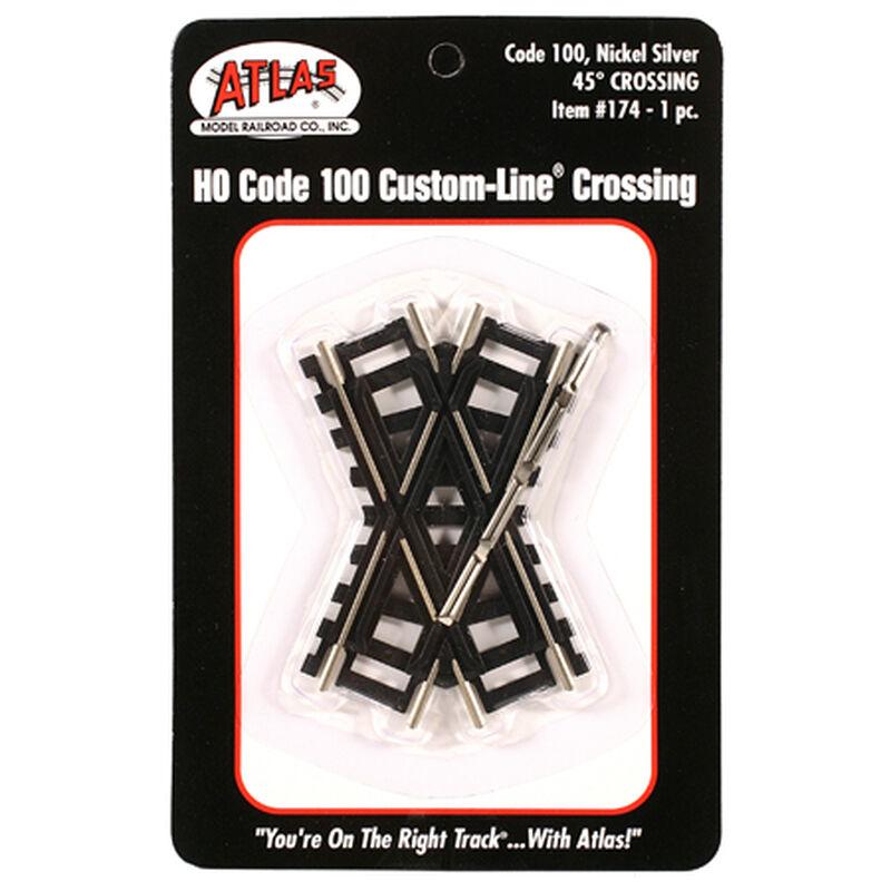 HO Code 100 45-Degree Custom Crossing