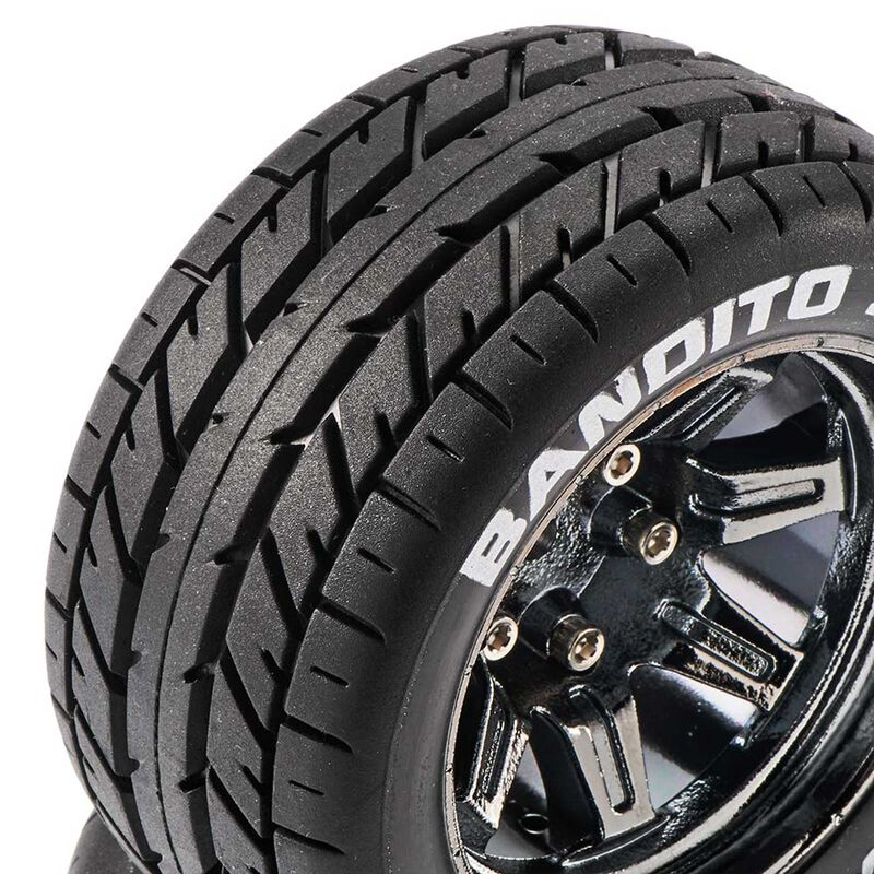 Bandito ST 2.8 Mounted Tires, Chrome 14mm Hex (2)