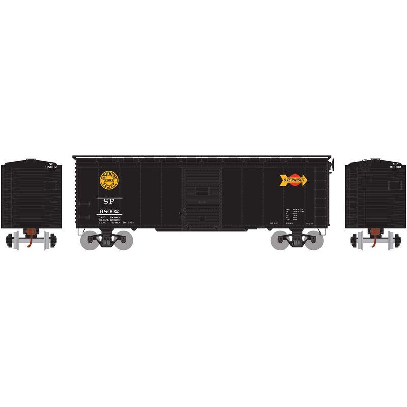 HO RTR 40' YSD Box SP, Black Overnight #98002