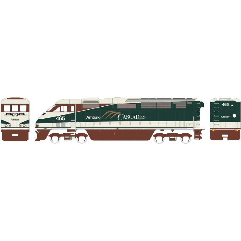 HO RTR F59PHI with DCC & Sound Amtrak #465