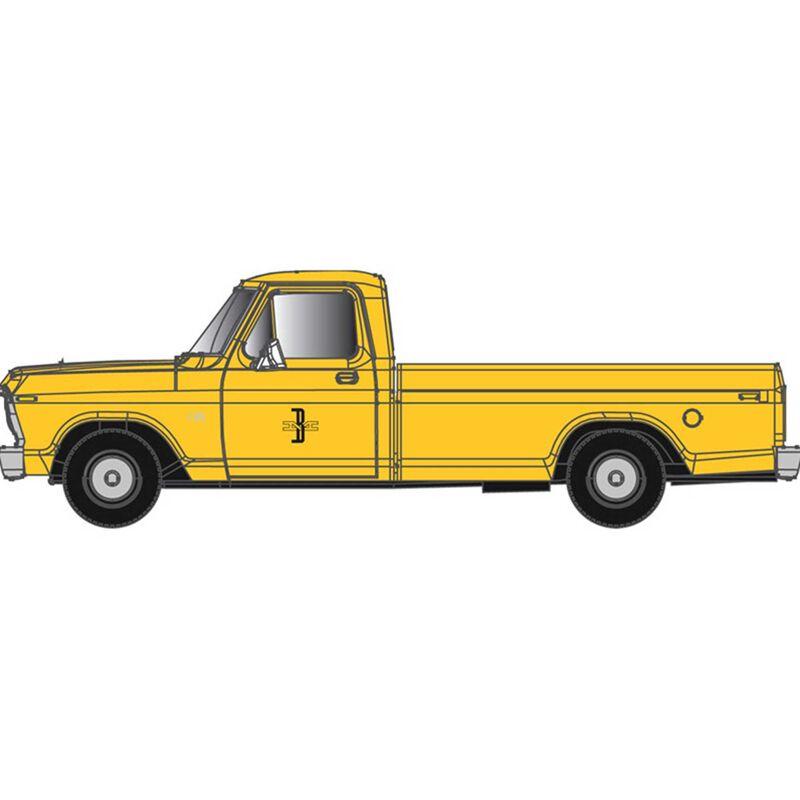 N  F-100 Ford Pickup Truck Erie Lackawanna  Yellow