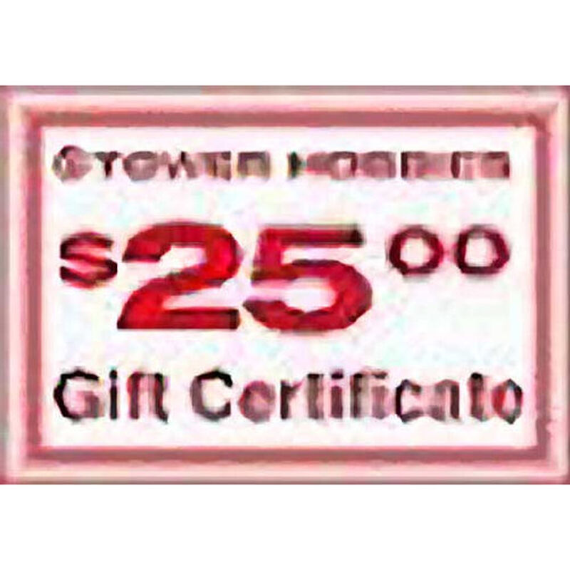 Tower Gift Certificate Promotion