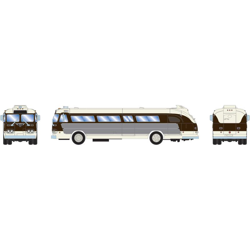HO RTR Intercity Bus Black & White