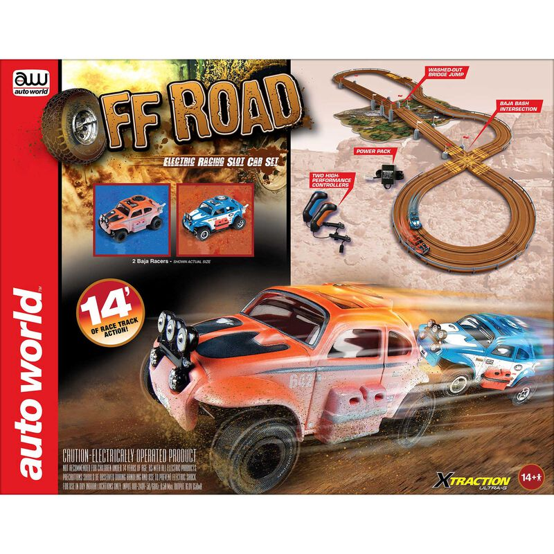14' Off-Road X-Traction Ultra-G Slot Race Set