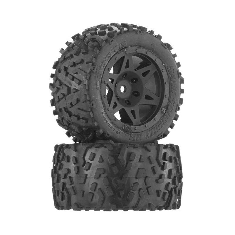 1/10 Sand Scorpion DB 2.2/3.0 Pre-Mounted Tires, 12mm Hex, Black (2)