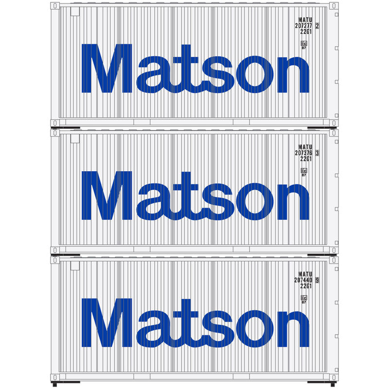 HO RTR 20' Corrugated Container Matson (3)