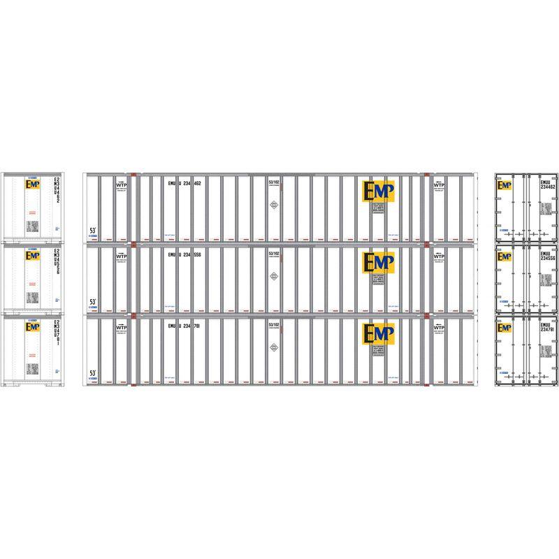 HO RTR 53' Stoughton Container, EMP White (3)