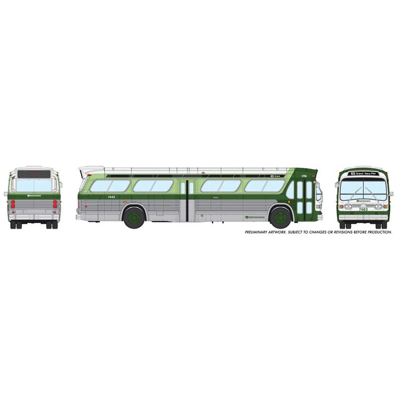 HO 1 87 New Look Bus Standard-Chicago CTA #7416
